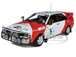 "Audi Quattro #5 ""Marlboro"" 1982 Rally Côte D'Ivoire H.Mikkola/R.Gumpert Limited Edition 1 of 899 Produced Worldwide 1/18 Diecast Model Car Sunstar 4221"