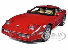 1986 Chevrolet Corvette Bright Red 1/18 Diecast Model Car Autoart 71241