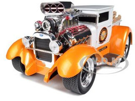 "1929 Ford Model AA Orange/White ""Muscle Machines"" 1/18 Diecast Model Car Maisto 32201"