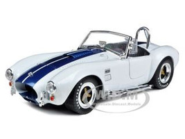 1965 Shelby Cobra 427 S/C White with Blue Stripes 1/18 Diecast Model Car Shelby Collectibles 115
