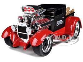 "1929 Ford Model AA Matt Black/Red ""Muscle Machines"" 1/18 Diecast Model Car Maisto 32201"