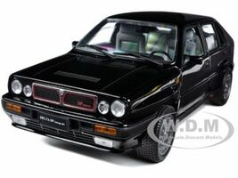 1990 Lancia Delta HF Integrale 8V Black 1/18 Diecast Model Car Sunstar 3151