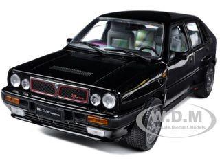 1990 Lancia Delta HF Integrale 8V Black 1/18 Diecast Model Car Sunstar 3151