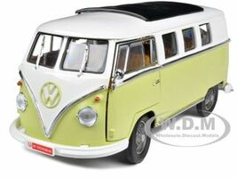 1962 Volkswagen Microbus Olive Green Limited to 300pc 1/18 Diecast Model Car Greenlight GL12851