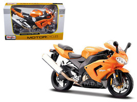 Kawasaki Ninja ZX 10R Orange Motorcycle 1/12 Diecast Model Maisto 31105