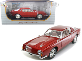 1963 Studebaker Avanti Maroon Red Metallic 1/18 Diecast Model Car Signature Models 18101