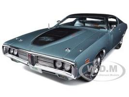 1971 Dodge Charger R/T Hemi (GA4) Gunmetal Grey Limited to 1250pc 1/18 Diecast Model Car Autoworld AMM974