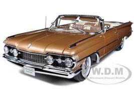 "1959 Oldsmobile ""98"" Open Convertible Bronze Mist Metallic 1/18 Diecast Model Car Sunstar 5235"