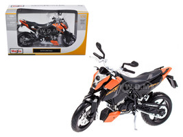 KTM 690 Duke Orange / Black Motorcycle 1/12 Diecast Model Maisto 31181