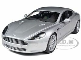 Aston Martin Rapide Silver 1/18 Diecast Model Car Autoart 70217