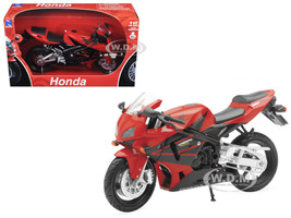 2006 Honda CBR600R Red Motorcycle 1/12 Diecast Model New Ray 42603