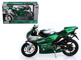 Benelli Tornado Tre 1130 Green/Silver Motorcycle 1/12 Diecast Model Maisto 31156