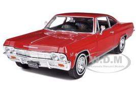 1965 Chevrolet Impala SS 396 Red 1/24 Diecast Car Model Welly 22417