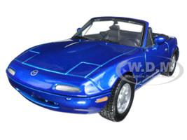 Mazda MX-5 Miata Blue 1/24 Diecast Car Model Motormax 73262