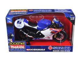 "Suzuki GSX-R1000 #6 ""Makita, Suzuki, Rockstar"" Bike Motorcycle 1/12 New Ray 57017"
