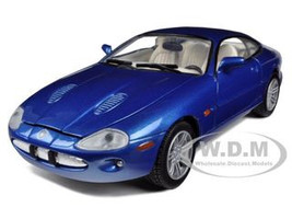 2002 Jaguar XKR Blue 1/24 Diecast Car Model Motormax 73339