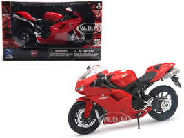 Ducati 1198 Red Motorcycle 1/12 Diecast Model New Ray 57143
