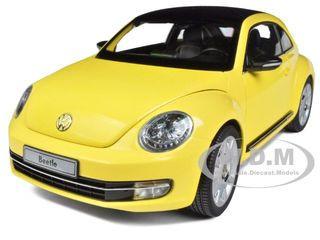 2012 Volkswagen New Beetle Sun Flower Yellow 1/18 Diecast Model Car Kyosho 08811