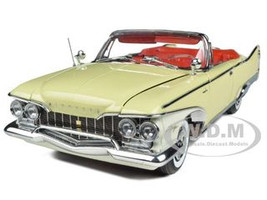 1960 Plymouth Fury Open Convertible Buttercup Yellow 1/18 Diecast Model Car Sunstar 5401