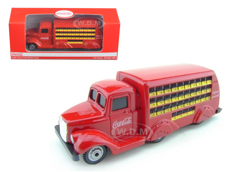 1937 Coca Cola Delivery Bottle Truck 1:87 HO Scale Diecast Model Motorcity Classics 424132
