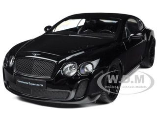 Bentley Continental Supersports Black 1/18 Diecast Car Model Welly 18038