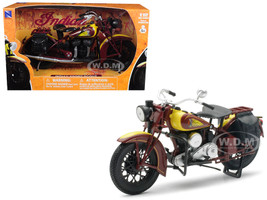 1934 Indian Sport Scout Bike 1/12 Diecast Motorcycle Model New Ray 42113 S