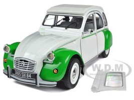1985 Citroen 2CV Dolly White/Green 1/18 Diecast Model Car Norev 181512