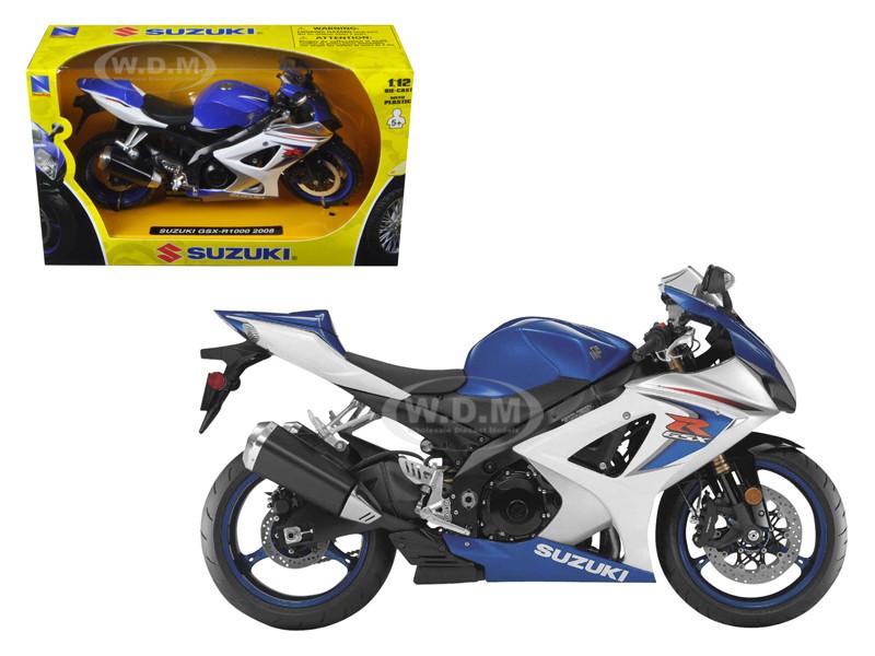 2008 Suzuki GSX-R1000 Blue Bike Motorcycle 1/12 New Ray 57003