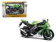 2010 Kawasaki Ninja ZX-10R Green Bike 1/12 Motorcycle Model Maisto 31187