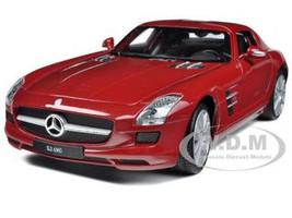 Mercedes SLS AMG Red 1/24 Diecast Model Car Welly 24025