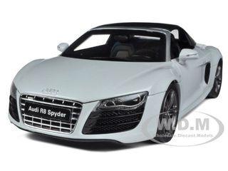 Audi R8 V10 5.2FSi Quattro Spyder Suzuka Grey 1/18 Diecast Car Model  Kyosho 09217