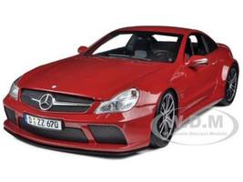 2009 Mercedes SL65 AMG Black Series (R230) Red 1/18 Diecast Model Car Minichamps 100038122