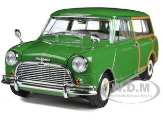 Morris Mini Traveller Green RHD 1/18 Diecast Model Car Kyosho 08195