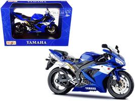 2004 Yamaha YZF-R1 Blue Bike Plastic Display Stand 1/12 Diecast Motorcycle Model Maisto 32712