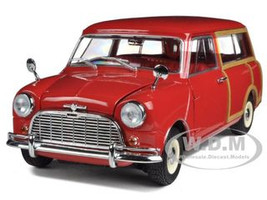 Morris Mini Traveller Red RHD 1/18 Diecast Model Car Kyosho 08195