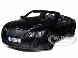 Bentley Continental Supersports Convertible Matt Black 1/18 Diecast Car Model Bburago 11035