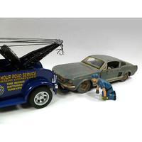 Tow Truck Driver/Operator Scott Figure For 1:24 Scale Diecast Car Models American Diorama 23905