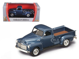 1950 GMC Pickup Truck Dark Blue 1/43 Diecast Model Car Road Signature 94255