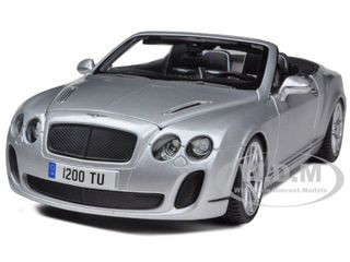 Bentley Continental Supersports Convertible Silver 1/18 Diecast Car Model Bburago 11035