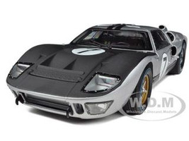 1966 Ford GT-40 MK 2 Silver #7 1/18 Diecast Car Model Shelby Collectibles 404
