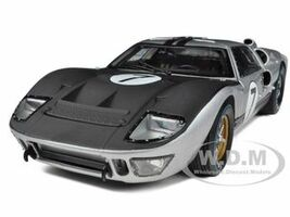 1966 Ford GT-40 MK II #7 Silver 1/18 Diecast Model Car Shelby Collectibles SC404