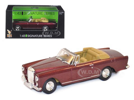 1961 Bentley Continental S2 Park Ward DHC Convertible Burgundy 1/43 Diecast Car Model Road Signature 43214