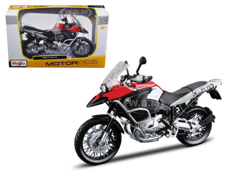 BMW R1200GS Red Black 1/12 Diecast Motorcycle Model Maisto 31157