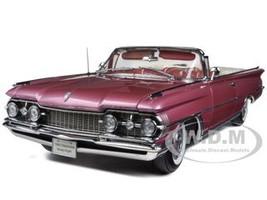 "1959 Oldsmobile ""98"" Open Convertible Burgundy Mist Metallic 1/18 Diecast Car Model Sunstar 5236"