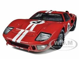 1966 Ford GT-40 MK 2 Red #3 1/18 Diecast Car Model Shelby Collectibles 406