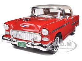 1955 Chevrolet Bel Air Convertible Soft Top Red 1/18 Diecast Car Model Motormax 73184