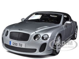 Bentley Continental Supersports Soft Top Silver 1/18 Diecast Car Model Bburago 11037