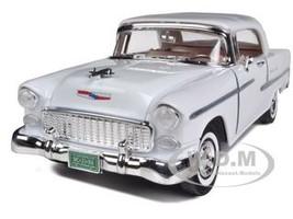 1955 Chevrolet Bel Air Convertible Soft Top White 1/18 Diecast Car Model Motormax 73184