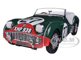 Triumph TR3S 1959 Lemans #27 1/18 Diecast Car Model Kyosho 08033
