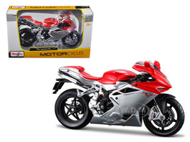 2012 MV Agusta F4 Red/Silver Bike 1/12 Motorcycle Model Maisto 11094